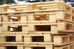 Wooden pallet Stock Photo