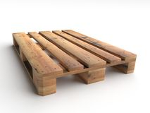 Wooden pallet. Wooden warehouse pallet shot on white background Stock Image