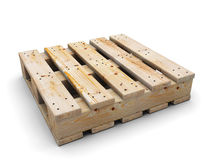 Wooden pallet.  on white. Stock Photography