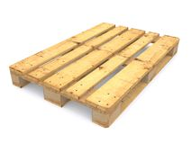 Wooden pallet. On white background Royalty Free Stock Image
