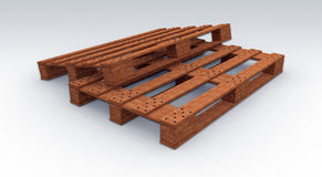Wooden pallete. Illustation of a Wooden palette made in 3D Stock Photos
