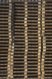 Wooden pallets Royalty Free Stock Photo