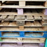 Wooden pallets Royalty Free Stock Photography