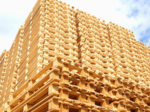Wooden pallets Royalty Free Stock Images