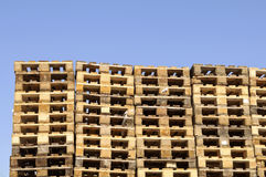 Wooden pallets Royalty Free Stock Photos