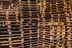 Wooden pallets background Stock Photography