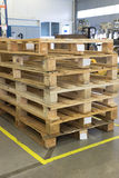 Wooden Pallets In Interior Of Factory Royalty Free Stock Images