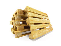 Wooden pallets. Isolated on white Stock Images