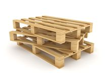 Wooden pallets. Stock Image