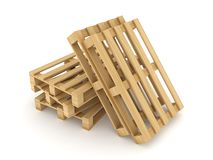 Wooden pallets. Royalty Free Stock Photos