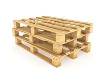 Wooden pallets. Royalty Free Stock Photography