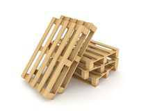 Wooden pallets. Royalty Free Stock Photo