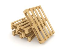 Wooden pallets. Royalty Free Stock Image