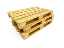 Wooden pallets. Several wooden pallets, 3d illustration Royalty Free Stock Image