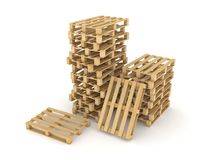 Wooden pallets. Royalty Free Stock Images