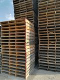 Wooden pallets stored Royalty Free Stock Photography