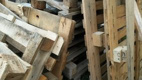 Wooden pallets for transportation stock photo