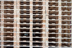 Wooden pallets Stock Images