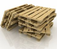 Wooden pallets Stock Photos