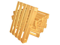 Wooden pallets. On white background Stock Image