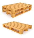 Wooden pallets  on white background Stock Image