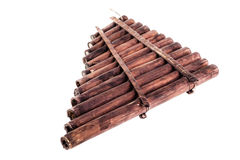 Wooden pan flute stock photos