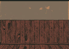 Wooden panel . Vintage drawing background Stock Images