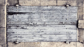 Wooden panel banner Royalty Free Stock Image
