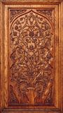 Wooden Panel Carved with Floral Ornament. Royalty Free Stock Photography