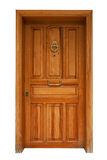Wooden panel door isolated Royalty Free Stock Image