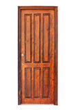 Wooden panel door of a room Stock Photography