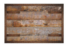 Wooden panel with forgings Royalty Free Stock Image