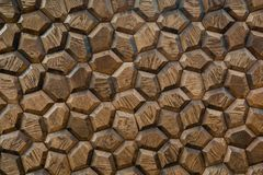 Wooden panel is handmade. Beautiful wall decoration stock images