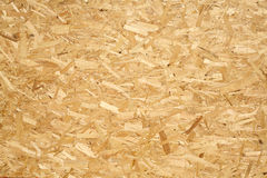 OSB Wooden panel made of pressed wood shavings Stock Images