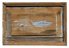 The wooden panel of the old retro rustic door is covered with cr Royalty Free Stock Photography