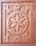 Wooden panel with ornaments Royalty Free Stock Photos