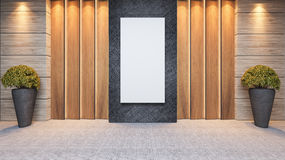 Wooden panel wall decor design Stock Photography