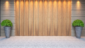 Wooden panel wall decor design Royalty Free Stock Photography