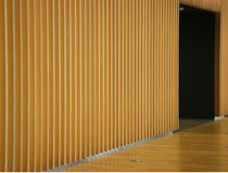 Wooden panel wall and door Stock Photography
