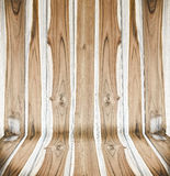 Wooden panel wall. And floor interior background Royalty Free Stock Images