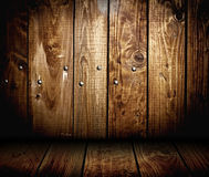 Wooden panel wall interior background Stock Photos