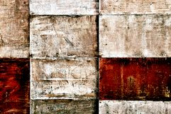 Wooden panels. Which cover the wall of an old shelter (Germany Royalty Free Stock Images
