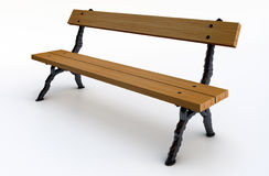 Wooden park bench Royalty Free Stock Photos