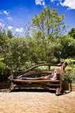 Wooden Park Bench. Found in the Walter Sisulu National Botanical Garden Royalty Free Stock Photo