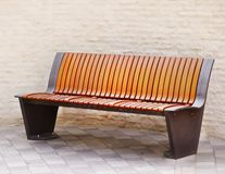 Wooden park bench. Stock Photography