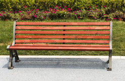 Wooden park bench Stock Photos