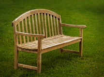 Wooden Park Bench Royalty Free Stock Images