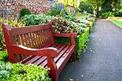 Wooden park bench Stock Photos