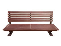 Wooden Park Bench Isolated - brown Royalty Free Stock Images