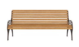 Wooden Park Bench Isolated. On white background. 3D render Royalty Free Stock Photos